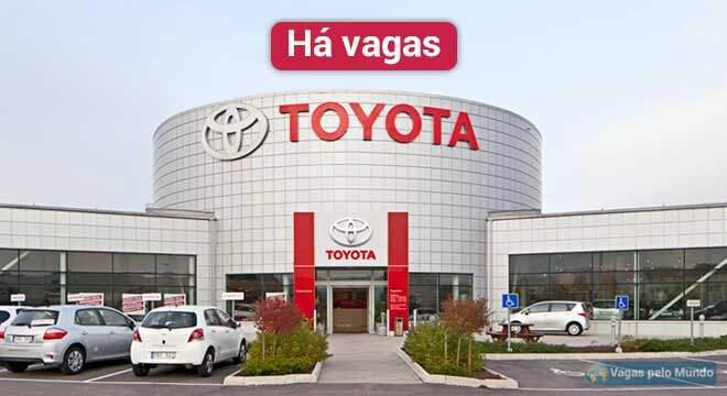 Vagas abertas na Toyota