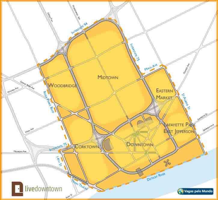Mapa das areas da cidade que participam do projeto