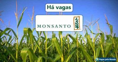 Monsanto esta contratando em diversos paises