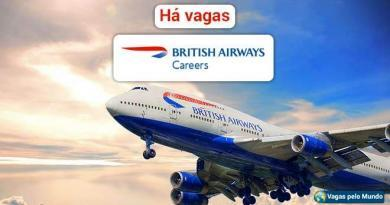 British Airways esta contratando e salarios sao altos