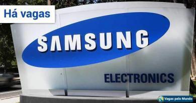 Samsung esta contratando em varios paises