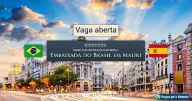 Embaixada de Madri tem vaga aberta