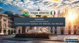 Consulado do Brasil em Milao tem vaga aberta