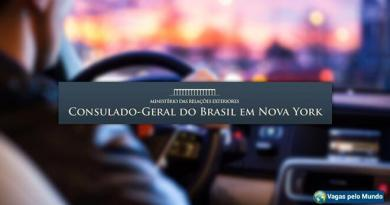 Vaga para motorista no consulado do Brasil em Nova Iorque