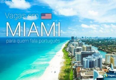 Vagas em Miami para quem fala português