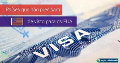Descubra quais são os 38 países que entram nos EUA sem visto