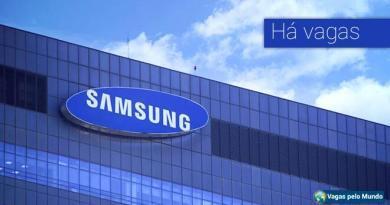 Samsung esta contratando em diversos paises