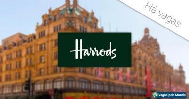 Harrods esta contratando e tem vagas abertas para diversos profissionais