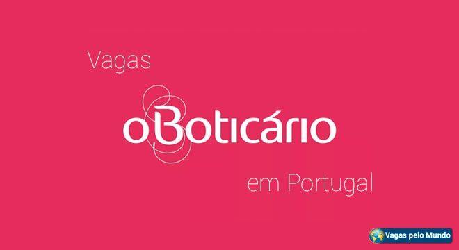 Vagas o Boticário em Portugal