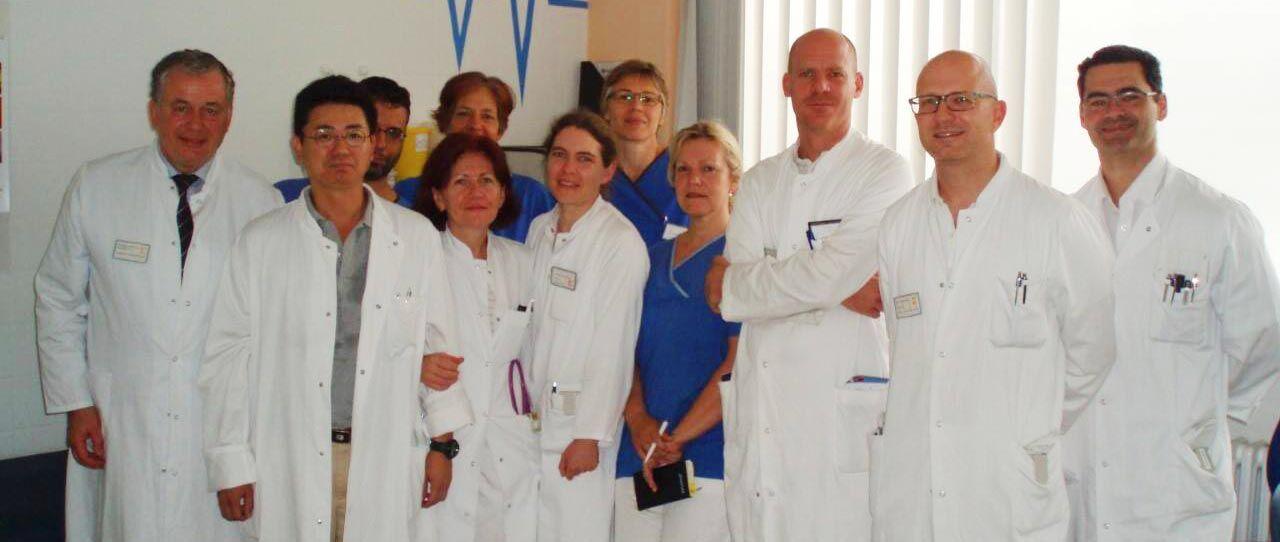 Equipe médica na Alemanha