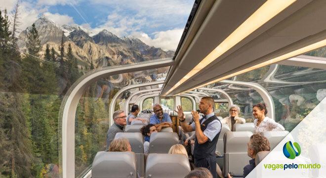 trem panoramico nos Estados Unidos