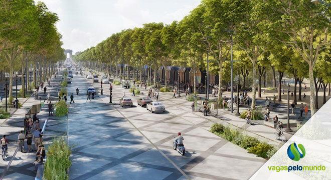 avenida champs elysees em Paris