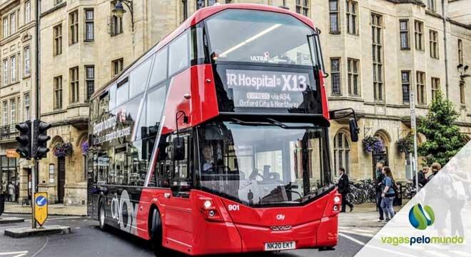 ônibus elétricos no Reino Unido