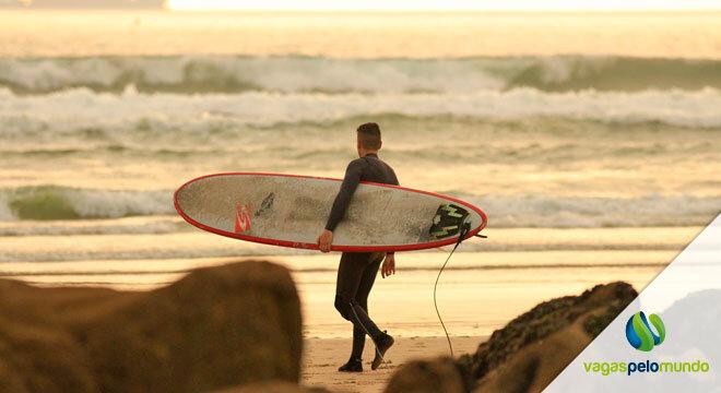 Praia Portugal surfistas