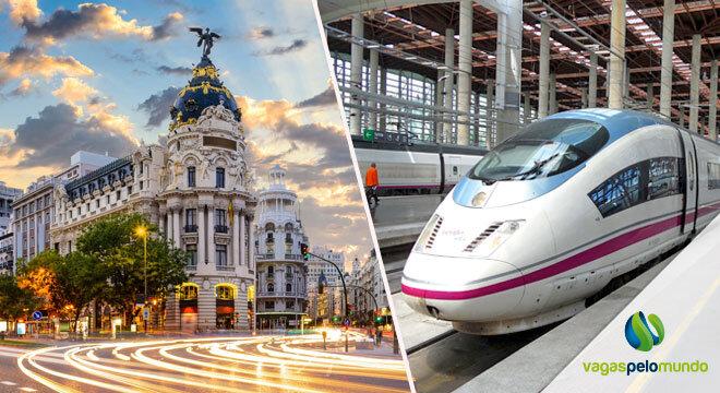 trem de alta velocidade entre Madri e Barcelona