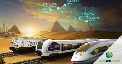 trem de alta velocidade no Egito