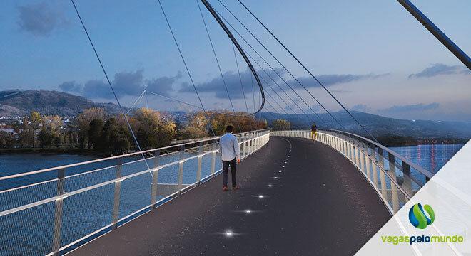ponte pedonal entre Portugal e Espanha