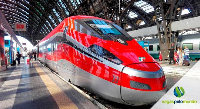 trem de alta velocidade entre Roma a Milão