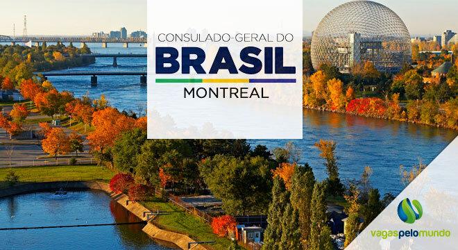 Vagas no Consulado do Brasil em Montreal