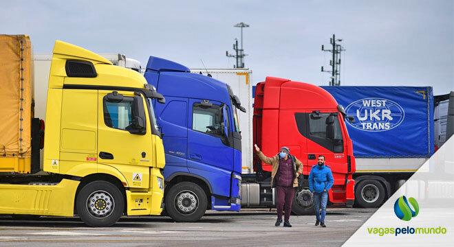 caminhoneiros estrangeiros no Reino Unido